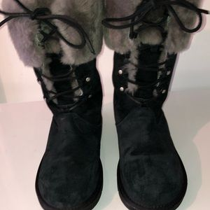 Women's black Ugg boots.